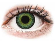 Lentile de contact verzi - fără dioptrie - ColourVUE Fusion Green Yellow - fără dioptrie (2lentile)