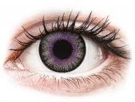 Lentile de contact gri - fără dioptrie - ColourVUE Fusion Violet Gray - fără dioptrie (2lentile)