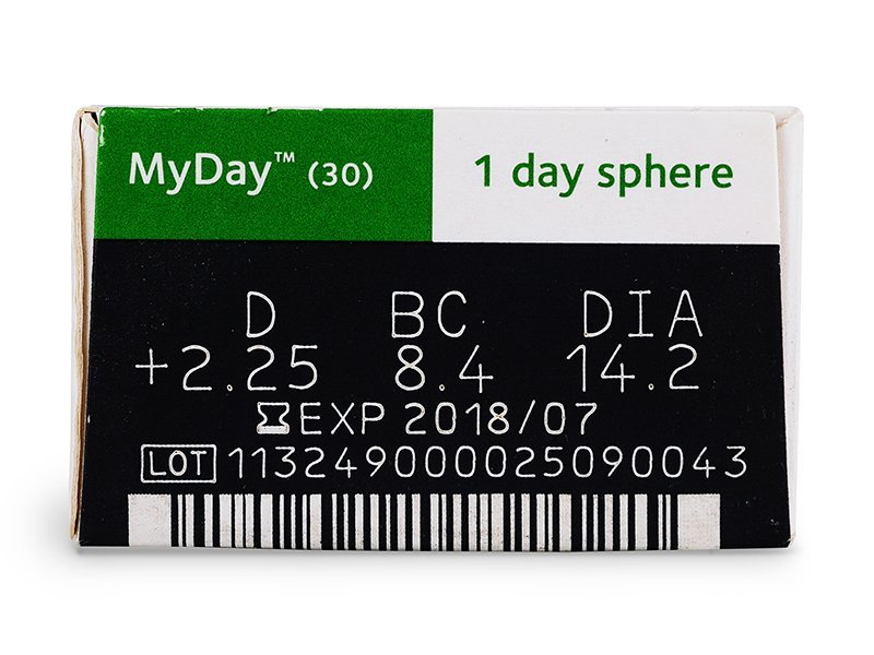 MyDay daily disposable (30lentile) - vizualizare parametrii