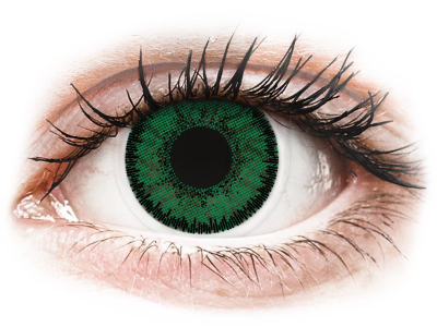 SofLens Natural Colors Emerald - cu dioptrie (2 lentile)