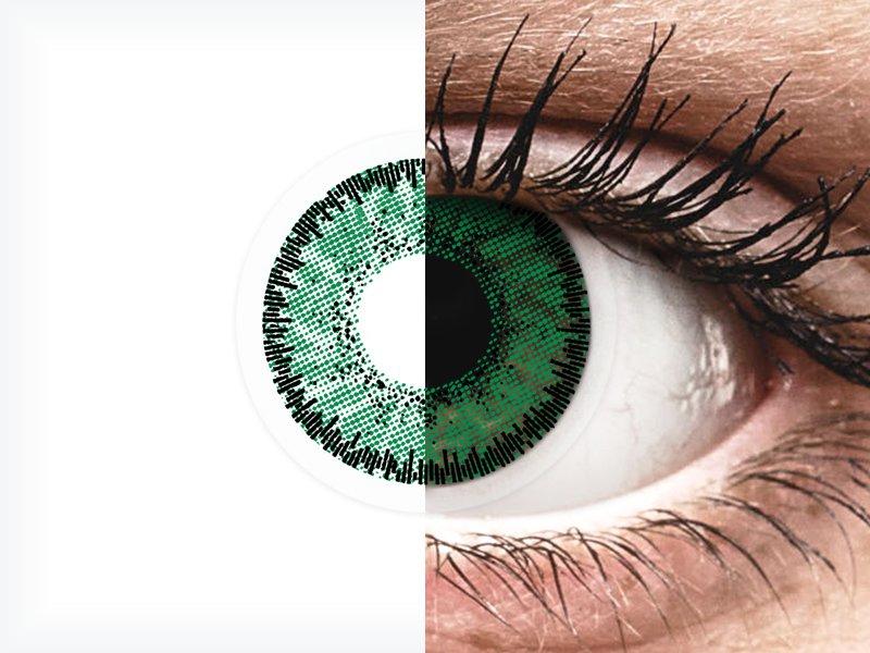 SofLens Natural Colors Emerald - cu dioptrie (2 lentile)