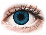 Lentile de contact albastre - fără dioptrie - SofLens Natural Colors Topaz - fără dioptrie (2 lentile)