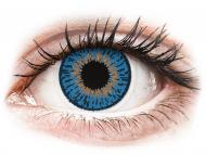 Lentile de contact albastre - cu dioptrie - Expressions Colors Dark Blue - cu dioptrie (1 lentilă)