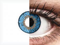 Expressions Colors Dark Blue - cu dioptrie (1 lentilă)