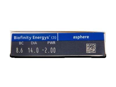 Biofinity Energys (3 lentile) - vizualizare parametrii