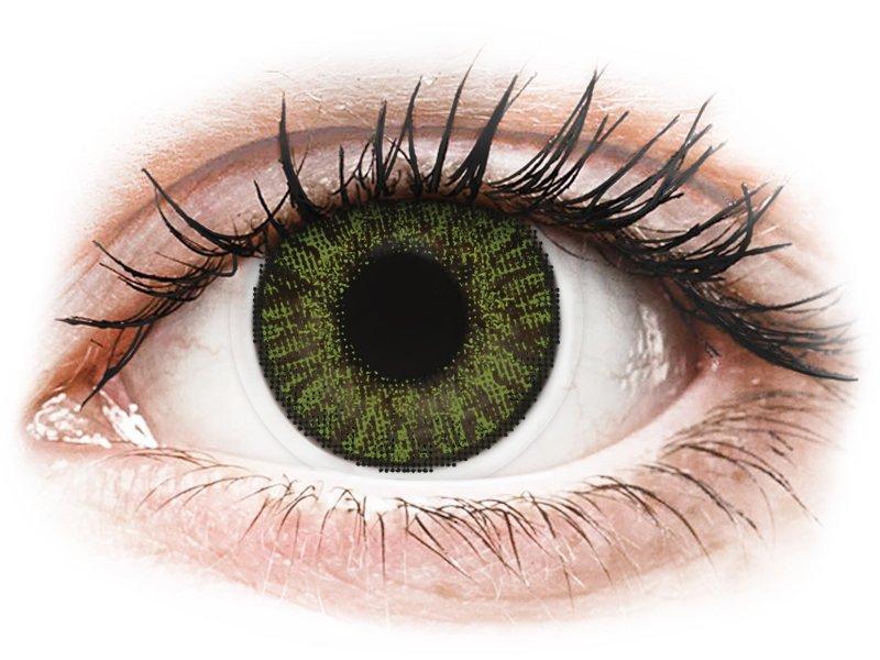 FreshLook ColorBlends Green - cu dioptrie (2 lentile) - Lentile colorate