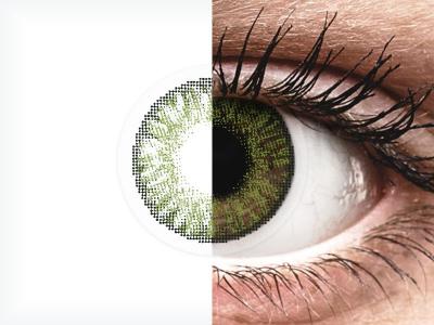 FreshLook ColorBlends Green - cu dioptrie (2 lentile)