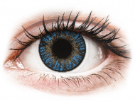 Lentile de contact albastre - cu dioptrie - FreshLook ColorBlends True Sapphire - cu dioptrie (2 lentile)