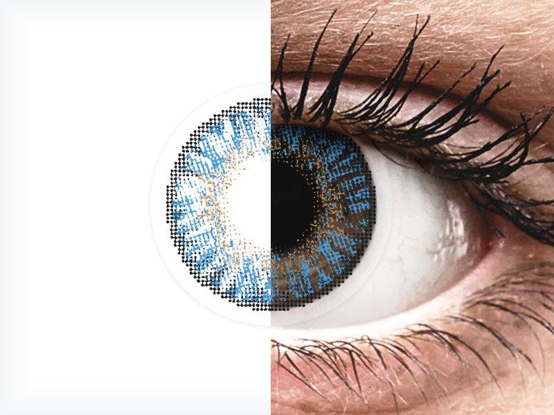 FreshLook ColorBlends True Sapphire - cu dioptrie (2 lentile)