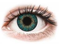 Lentile de contact albastre - cu dioptrie - FreshLook ColorBlends Turquoise - cu dioptrie (2 lentile)