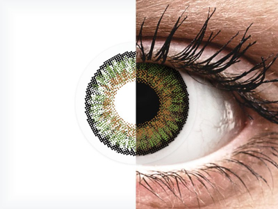 FreshLook One Day Color Green - cu dioptrie (10 lentile)