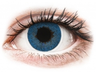 Lentile de contact albastre - cu dioptrie - FreshLook Dimensions Pacific Blue - cu dioptrie (6 lentile)