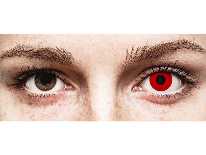ColourVUE Crazy Lens - Red Devil - lentile zilnice fără dioptrie (2 lentile)