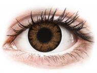 Lentile de contact maro - cu dioptrie - ColourVue One Day TruBlends Hazel - cu dioptrie (10 lentile)