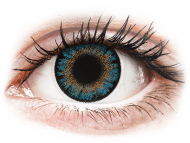 Lentile de contact albastre - cu dioptrie - ColourVue One Day TruBlends Blue - cu dioptrie (10 lentile)