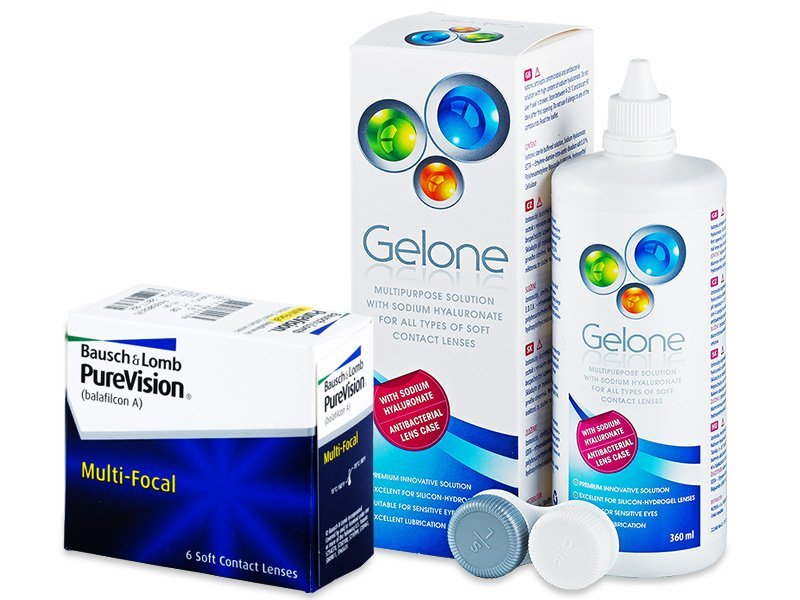 PureVision Multi-Focal (6lentile) +soluțieGelone360ml - Pachet avantajos