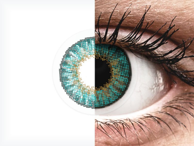 Air Optix Colors - Turquoise - cu dioptrie (2lentile)