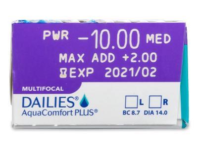 Dailies AquaComfort Plus Multifocal (30lentile)