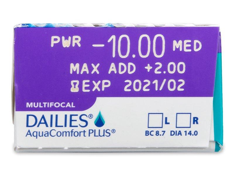 Dailies AquaComfort Plus Multifocal (30lentile) - vizualizare parametrii