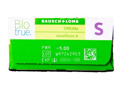 Biotrue ONEday (30 lentile) - vizualizare parametrii
