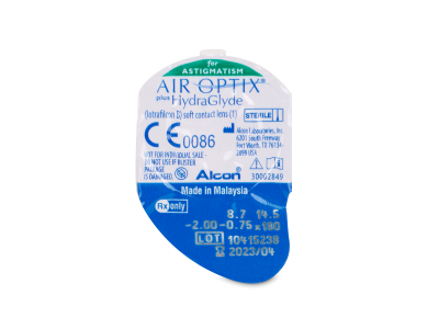 Air Optix plus HydraGlyde for Astigmatism (6 lentile) - vizualizare ambalaj