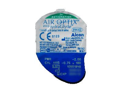 Air Optix plus HydraGlyde for Astigmatism (6lentile) - vizualizare ambalaj