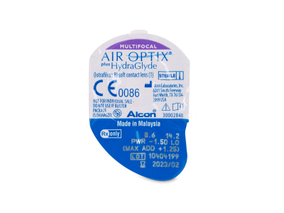 Air Optix plus HydraGlyde Multifocal (3 lentile)