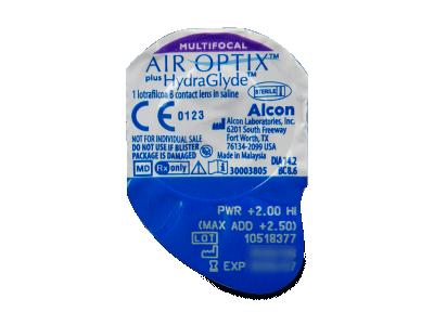 Air Optix plus HydraGlyde Multifocal (3 lentile) - vizualizare ambalaj