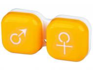 Suport pentru lentile de contact - diferite culori și modele - Suport pentru lentile man&woman -galben
