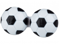 Suport pentru lentile de contact - diferite culori și modele - Suport pentru lentile Football - negru