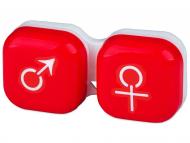 Suport pentru lentile de contact - diferite culori și modele - Suport pentru lentile man&woman - roșu