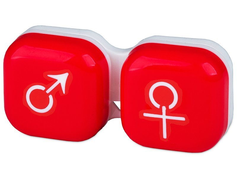 Suport pentru lentile man&woman - roșu