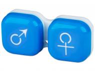 Suport pentru lentile de contact - diferite culori și modele - Suport pentru lentile man&woman -albastru