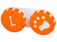 Suport pentru lentile de contact - diferite culori și modele - Suport pentru lentile Paw portocaliu