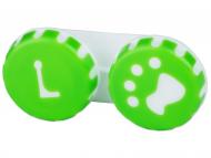 Suport pentru lentile de contact - diferite culori și modele - Suport pentru lentile Paw verde