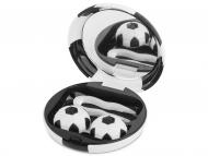 Diferite accesorii pentru întreținerea lentilelor de contact - Casetă cu oglindă Football - neagră
