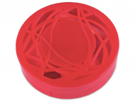 Set pentru lentile de contact - Casetă cu oglindă-  cu ornament, roșie