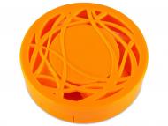 Set pentru lentile de contact - Casetă cu oglindă-  cu ornament, portocalie
