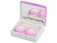 Set pentru lentile de contact - Casetă Elegant  - roz
