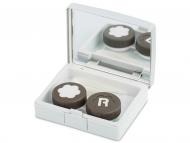 Diferite accesorii pentru întreținerea lentilelor de contact - Casetă Elegant  - argintie