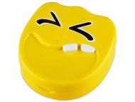 Set pentru lentile de contact - Casetă cu oglindă Smile - galbenă