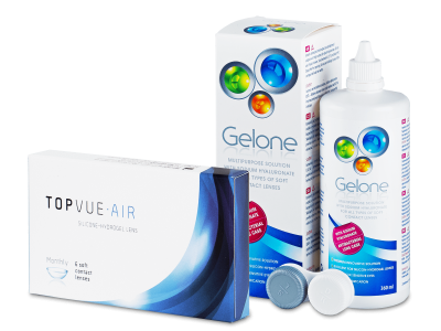 TopVue Air (6 lentile) + Gelone 360 ml