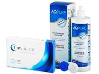 TopVue Air (6 lentile) + Soluție AQ Pure 360 ml - Pachet avantajos