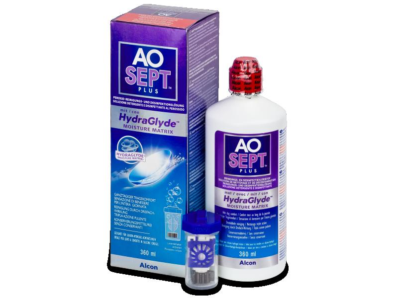 Soluție AO SEPT PLUS HydraGlyde 360ml  - soluție de curățare