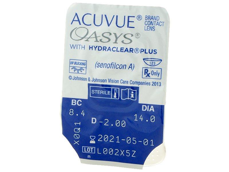 Acuvue Oasys (12 lentile) - vizualizare ambalaj