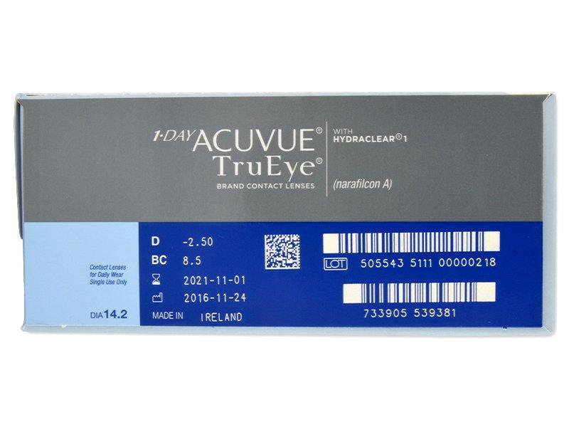 1 Day Acuvue TruEye (180lentile) - vizualizare parametrii