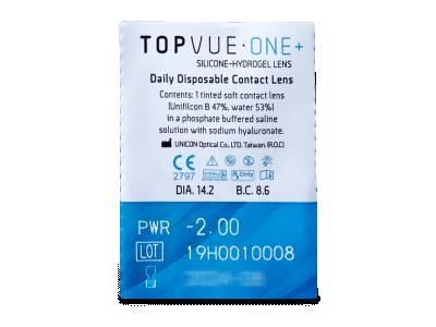 TopVue One+ ( 5 lentile) - vizualizare ambalaj
