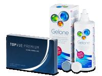 TopVue Premium (6 lentile) + soluție Gelone 360 ml