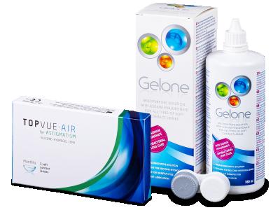TopVue Air for Astigmatism (3lentile) + soluție Gelone 360 ml