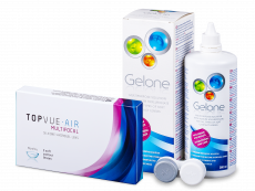 TopVue Air Multifocal (3 lentile) + Soluție Gelone 360 ml